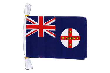 "Australia New South Wales Mini Flag Bunting 6x9"", 3 m"