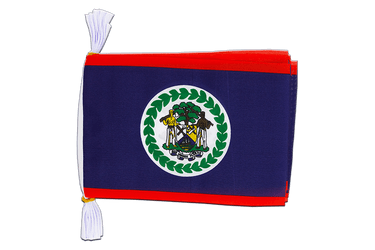 "Belize - Mini Flag Bunting 6x9"", 3 m"