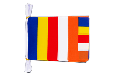 "Buddhist Mini Flag Bunting 6x9"", 3 m"