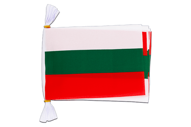 "Bulgaria Mini Flag Bunting 6x9"", 3 m"