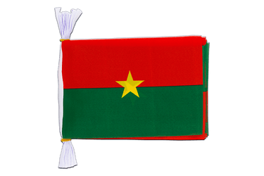 "Burkina Faso Mini Flag Bunting 6x9"", 3 m"