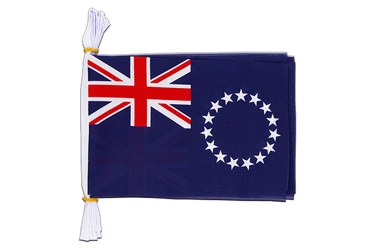 "Cook Islands Flag Bunting 6x9"", 3 m"