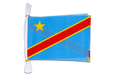"Democratic Republic of the Congo - Mini Flag Bunting 6x9"", 3 m"