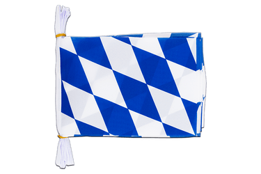 "Germany Bavaria without crest Mini Flag Bunting 6x9"", 3 m"
