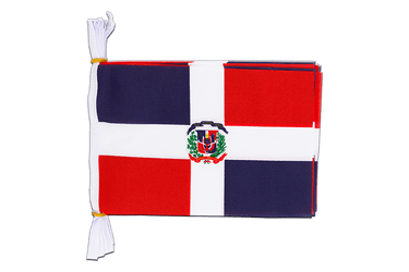 "Dominican Republic - Mini Flag Bunting 6x9"", 3 m"