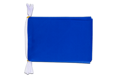 Mini Guirlande fanion Unicolore Bleu - 15 x 22 cm, 3 m