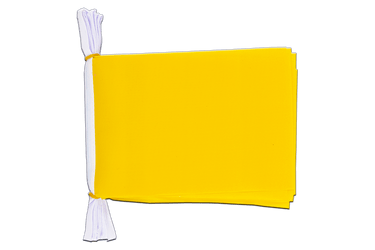 "Unicolor yellow - Mini Flag Bunting 6x9"", 3 m"