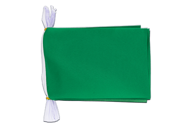 "Unicolor green Flag Bunting 6x9"", 3 m"