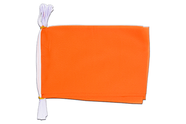 Mini Guirlande fanion Unicolore Orange - 15 x 22 cm, 3 m