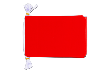 "Unicolor red Mini Flag Bunting 6x9"", 3 m"