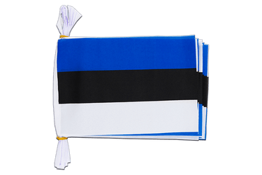 "Estonia Flag Bunting 6x9"", 3 m"