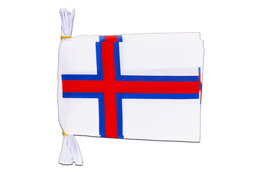 "Faroe Islands - Mini Flag Bunting 6x9"", 3 m"