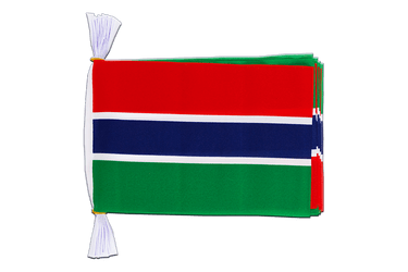 "Gambia Flag Bunting 6x9"", 3 m"