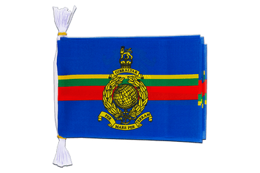 Mini Guirlande fanion Royaume-Uni Royal Marines 15 x 22 cm, 3 m