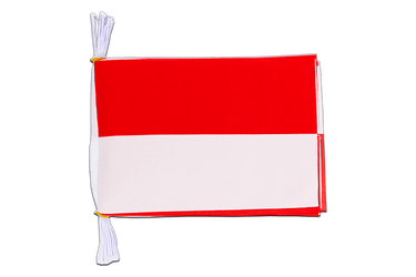 "Indonesia Flag Bunting 6x9"", 3 m"