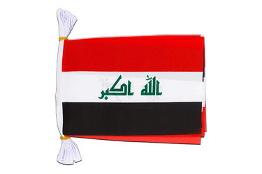 "Iraq 2009 Mini Flag Bunting 6x9"", 3 m"