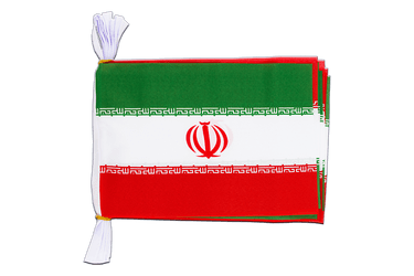 "Iran - Mini Flag Bunting 6x9"", 3 m"