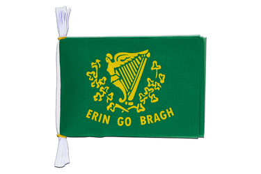 "Ireland Erin Go Bragh Mini Flag Bunting 6x9"", 3 m"