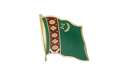 Turkmenistan - Flag Lapel Pin