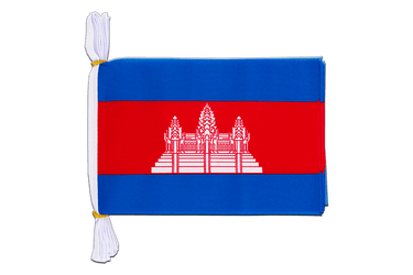 Cambodge Mini Guirlande fanion 15 x 22 cm, 3 m