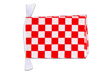 "Checkered red-white - Mini Flag Bunting 6x9"", 3 m"