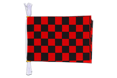 "Checkered Black-Red Flag Bunting 6x9"", 3 m"