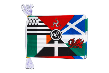 "Celtic nations - Mini Flag Bunting 6x9"", 3 m"