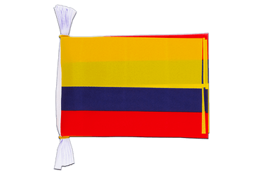 Colombie Mini Guirlande fanion 15 x 22 cm, 3 m