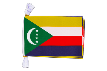 "Comoros - Mini Flag Bunting 6x9"", 3 m"