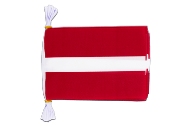 "Latvia Mini Flag Bunting 6x9"", 3 m"