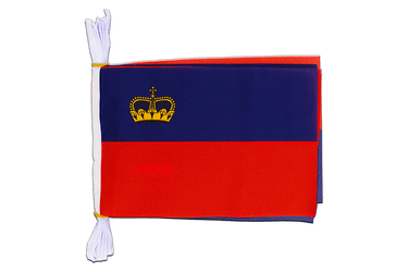 "Liechtenstein - Mini Flag Bunting 6x9"", 3 m"