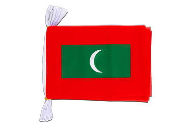 "Maldives - Mini Flag Bunting 6x9"", 3 m"
