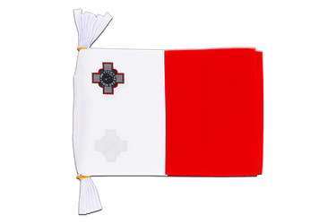 "Malta - Mini Flag Bunting 6x9"", 3 m"