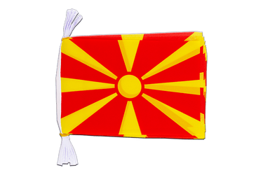 "Macedonia Flag Bunting 6x9"", 3 m"