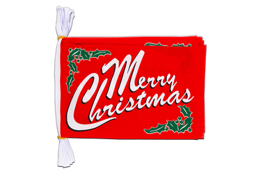 "Merry Christmas - Mini Flag Bunting 6x9"", 3 m"