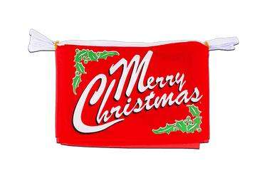 "Merry Christmas Horizontal Flag Bunting 6x9"", 3 m"