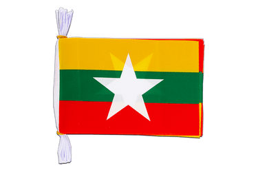"Myanmar new Mini Flag Bunting 6x9"", 3 m"