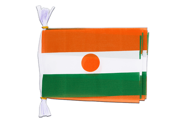 "Niger Mini Flag Bunting 6x9"", 3 m"