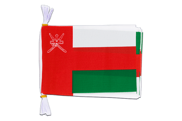 "Oman - Mini Flag Bunting 6x9"", 3 m"