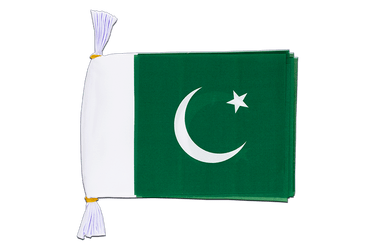 Pakistan Mini Guirlande fanion 15 x 22 cm, 3 m