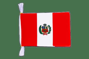 AZ FLAG Wimpel Peru 15x10cm Auto Pennant spezielle Auto Peruanische Mini Flagge 10 x 15 cm