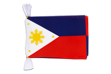Philippines Mini Guirlande fanion 15 x 22 cm, 3 m