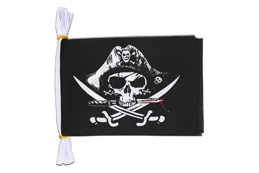 "Pirate with bloody sabre Flag Bunting 6x9"", 3 m"
