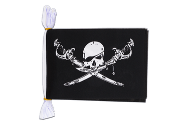 "Pirate with sabre - Mini Flag Bunting 6x9"", 3 m"