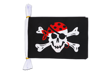Mini Guirlande fanion Pirate one eyed Jack - 15 x 22 cm, 3 m