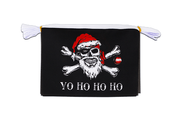 Mini Guirlande fanion Pirate Père Noël 15 x 22 cm, 3 m