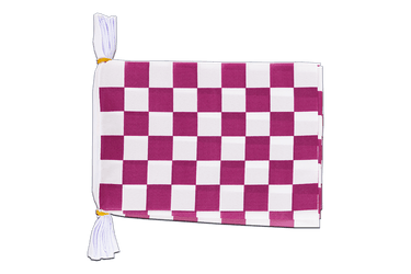 "Checkered Purple-White Flag Bunting 6x9"", 3 m"