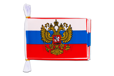 "Russia with crest Mini Flag Bunting 6x9"", 3 m"
