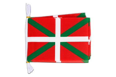 Mini Guirlande fanion Pays Basque 15 x 22 cm, 3 m