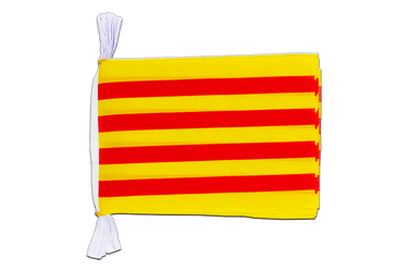 "Spain Catalonia Mini Flag Bunting 6x9"", 3 m"